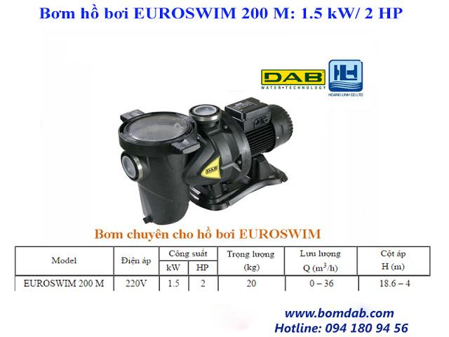 máy bơm hồ bơi 200M