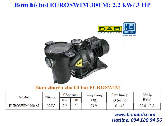 máy bơm hồ bơi euroswim 300M